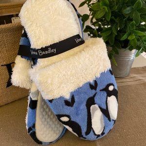 Vera Bradley Penguin Slippers 🆕